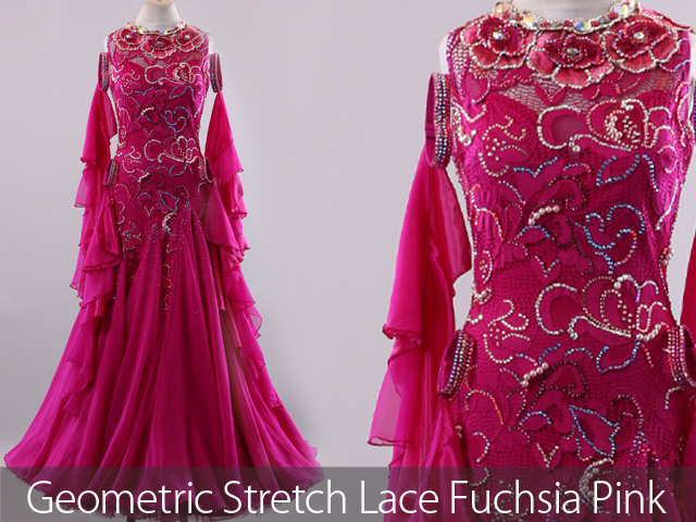 GEOMETRIC STRETCH LACE SAFFRON