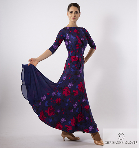IMPERIAL BALLROOM DRESS LARGE PRINT