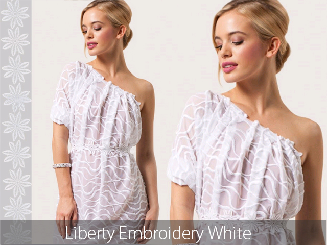 LIBERTY EMBROIDERY ON STRETCH NET BLACK