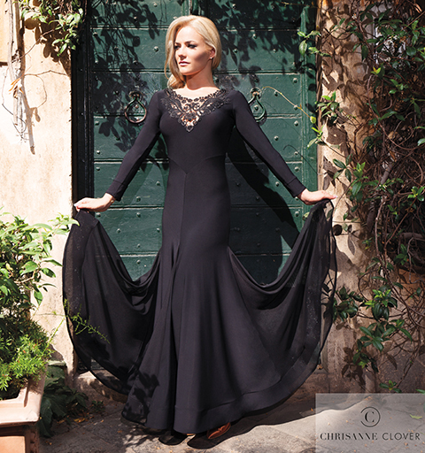 TANIA ANTONIA BALLROOM DRESS BLACK MEDIU