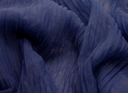 PLEATED SOFT TULLE NAVY