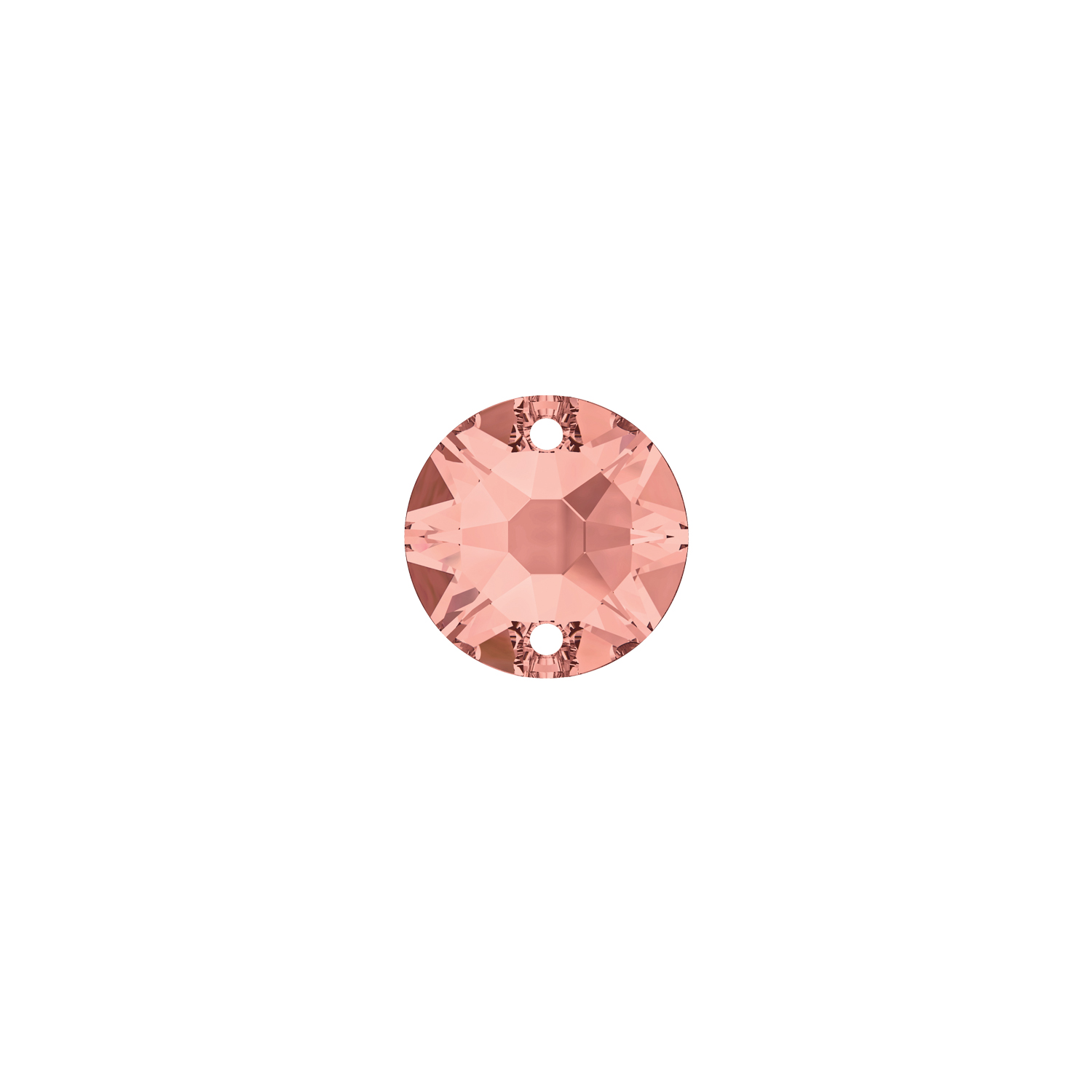 XIRIUS ROUND SEW-ON 12MM BLUSH ROSE