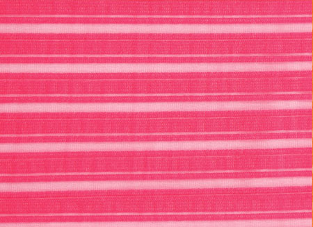 SHEER STRIPE LYCRA SALMON