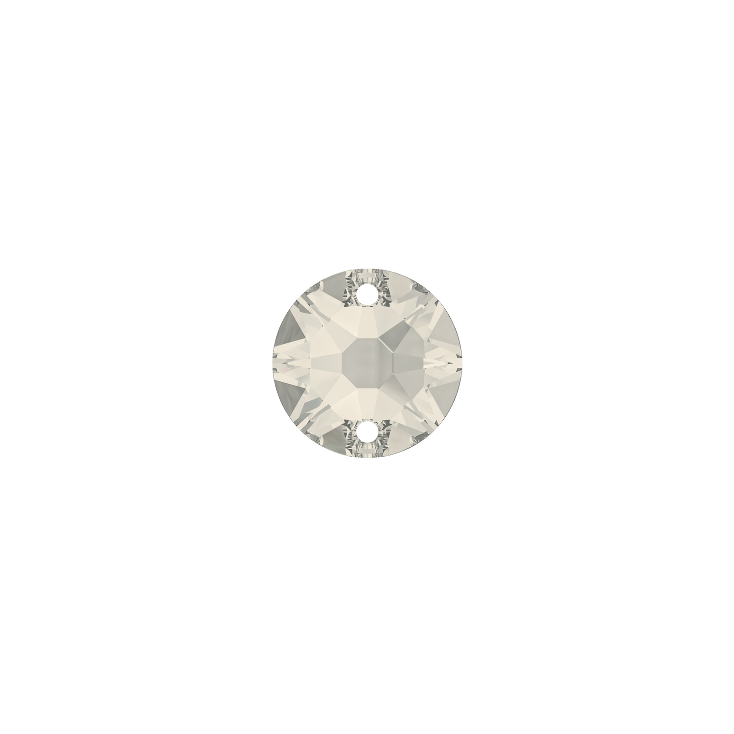 XIRIUS ROUND SEW-ON 12MM SILVER SHADE