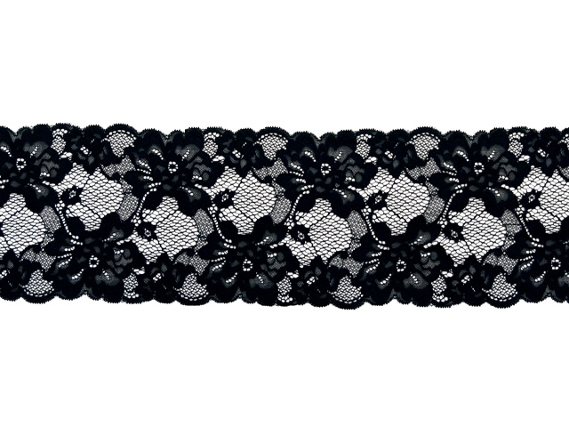 ROMANTIC STRETCH LACE BORDER BLACK