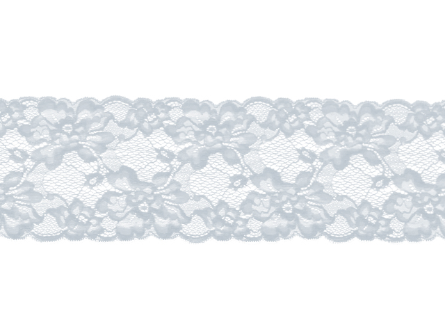 ROMANTIC STRETCH LACE BORDER WHITE