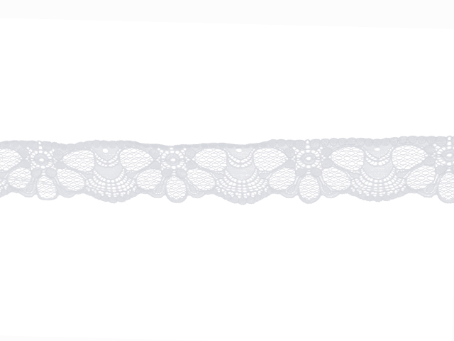LUCKY STRETCH LACE BORDER WHITE
