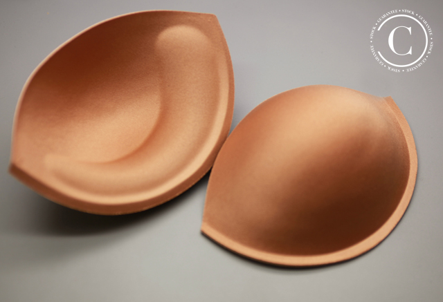BRA CUPS WITH UPLIFT - TAN