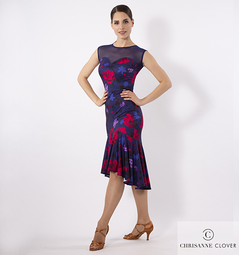 VERVE LATIN DRESS LARGE PRINT