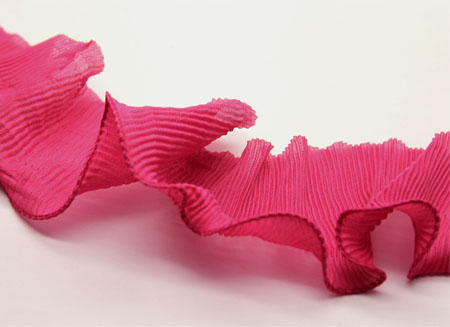 PLEATED TRIM - FUCSHIA