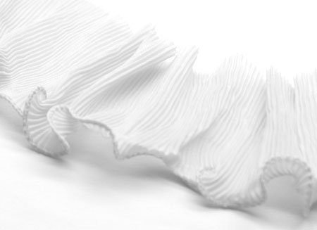 PLEATED TRIM - WHITE
